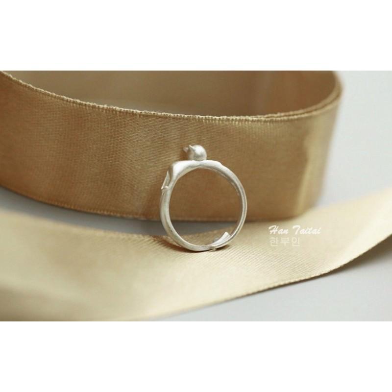 Серебристое кольцо Lazy Cat 192855