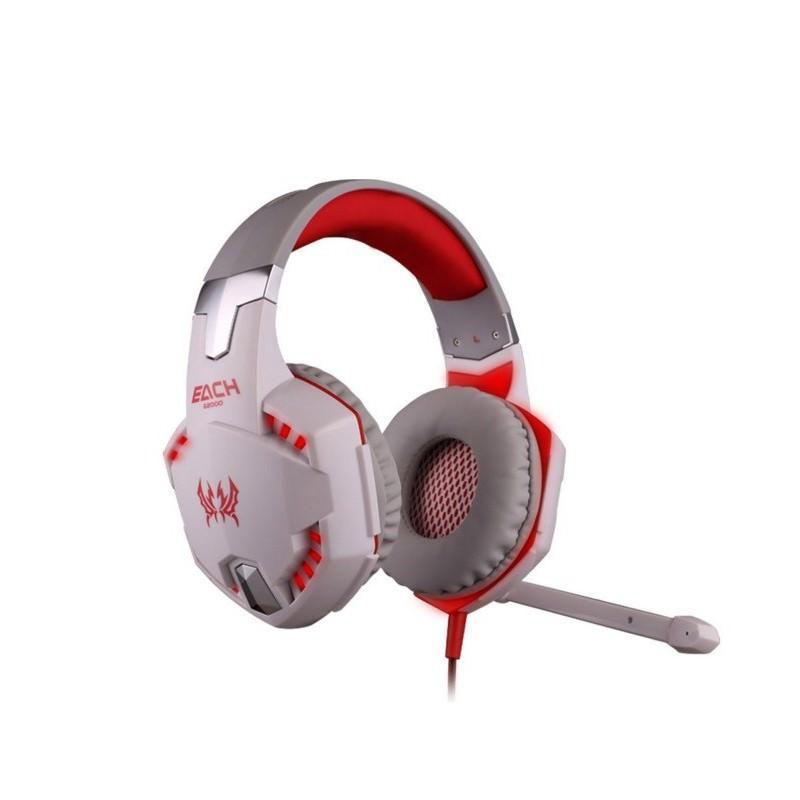 Игровые наушники Kotion Each G2000 Pro Gaming (Original) с микрофоном, шумоподавление, кабель 2.2 м, светодиодная подсветка 185014