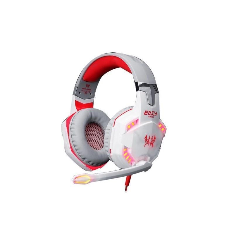 Игровые наушники Kotion Each G2000 Pro Gaming (Original) с микрофоном, шумоподавление, кабель 2.2 м, светодиодная подсветка 185016