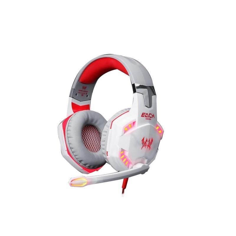 Игровые наушники Kotion Each G2000 Pro Gaming (Original) с микрофоном, шумоподавление, кабель 2.2 м, светодиодная подсветка 185018