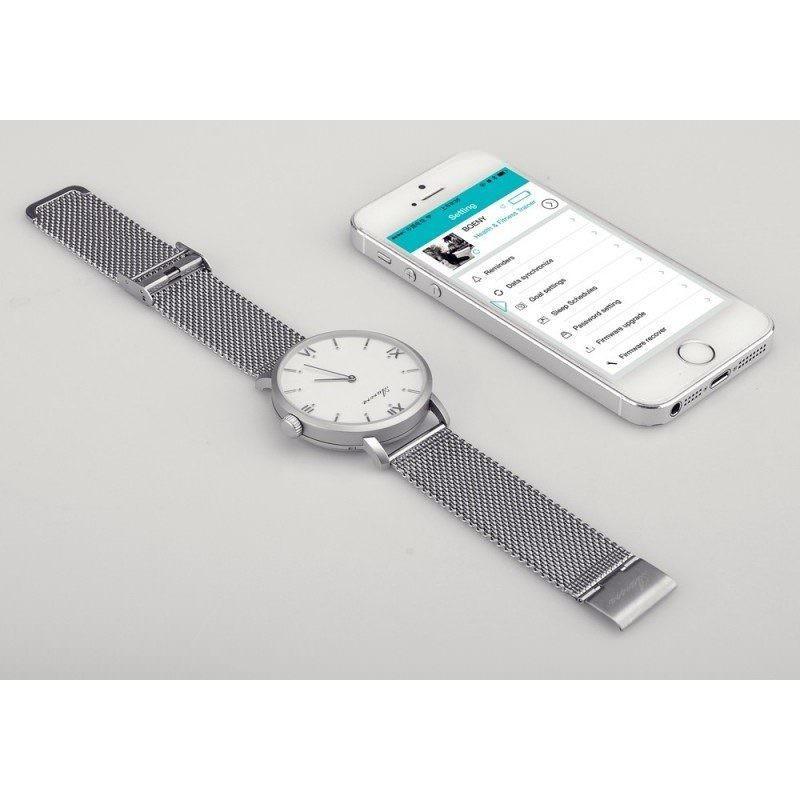 Умные часы/ фитнес-трекер Aurora –  швейцарский механизм, сапфировое стекло, пульсометр, шагомер, монитор сна