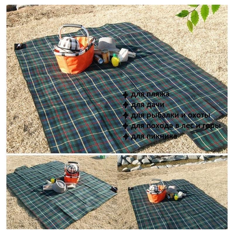 Кашемировый коврик/плед/одеяло для пикника – водонепроницаемая подкладка, 150 х 200 см, 3 цвета 193205
