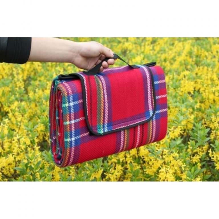 12339 - Кашемировый коврик/плед/одеяло для пикника - водонепроницаемая подкладка, 150 х 200 см, 3 цвета
