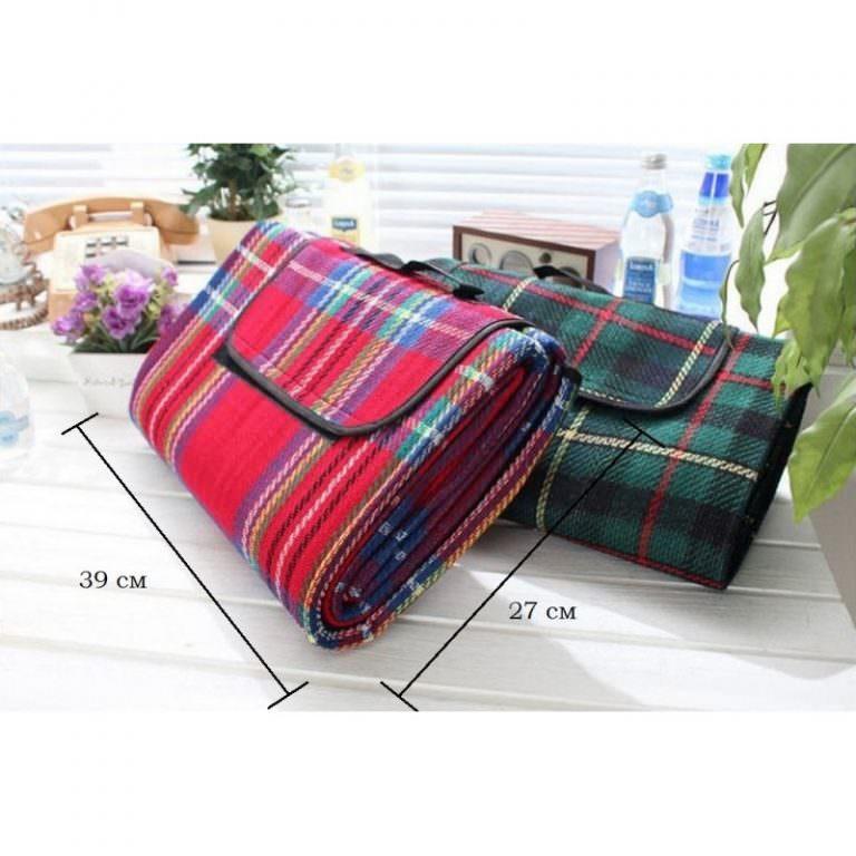12340 - Кашемировый коврик/плед/одеяло для пикника - водонепроницаемая подкладка, 150 х 200 см, 3 цвета