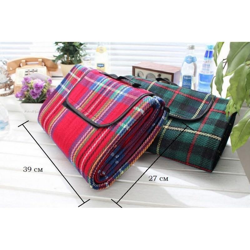 Кашемировый коврик/плед/одеяло для пикника – водонепроницаемая подкладка, 150 х 200 см, 3 цвета 193208