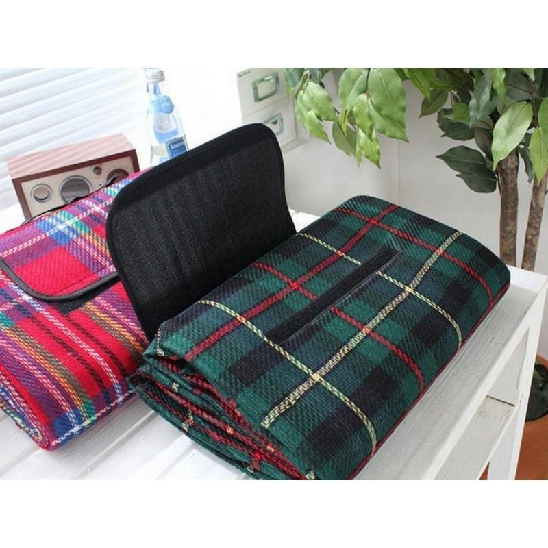 12341 - Кашемировый коврик/плед/одеяло для пикника - водонепроницаемая подкладка, 150 х 200 см, 3 цвета