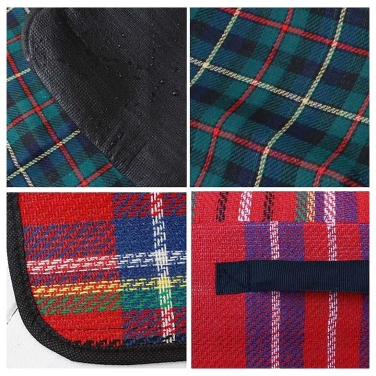 12342 - Кашемировый коврик/плед/одеяло для пикника - водонепроницаемая подкладка, 150 х 200 см, 3 цвета