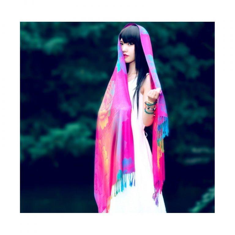12345 - Яркий шарф-палантин Trefille SunDay: 185 х 70 см, 6 расцветок