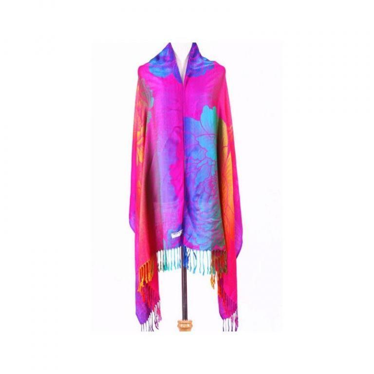12368 - Яркий шарф-палантин Trefille SunDay: 185 х 70 см, 6 расцветок