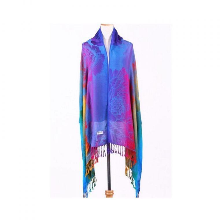 12369 - Яркий шарф-палантин Trefille SunDay: 185 х 70 см, 6 расцветок