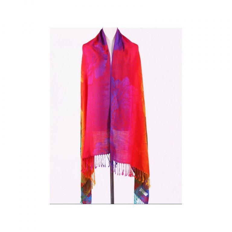 12370 - Яркий шарф-палантин Trefille SunDay: 185 х 70 см, 6 расцветок