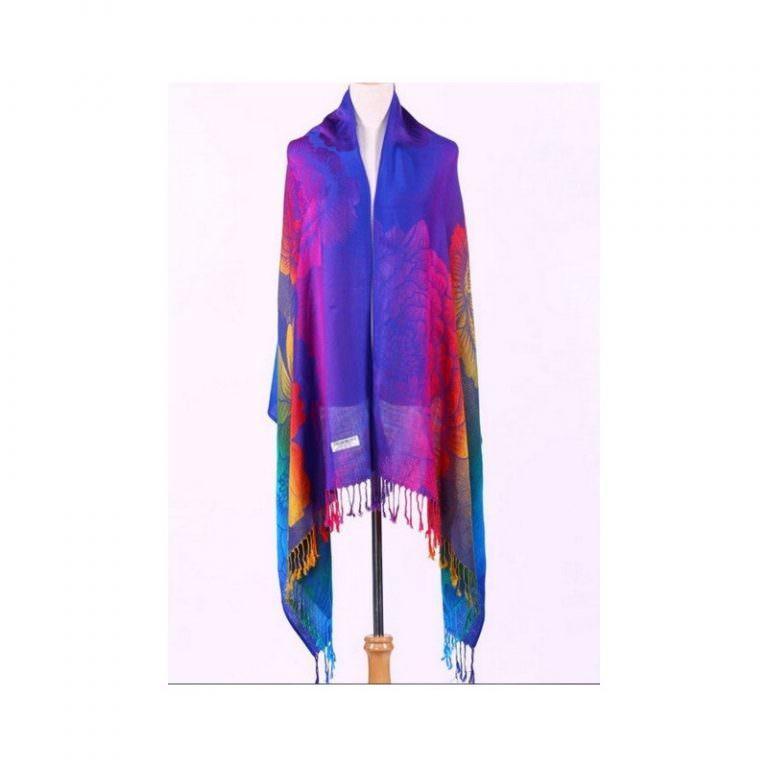 12371 - Яркий шарф-палантин Trefille SunDay: 185 х 70 см, 6 расцветок