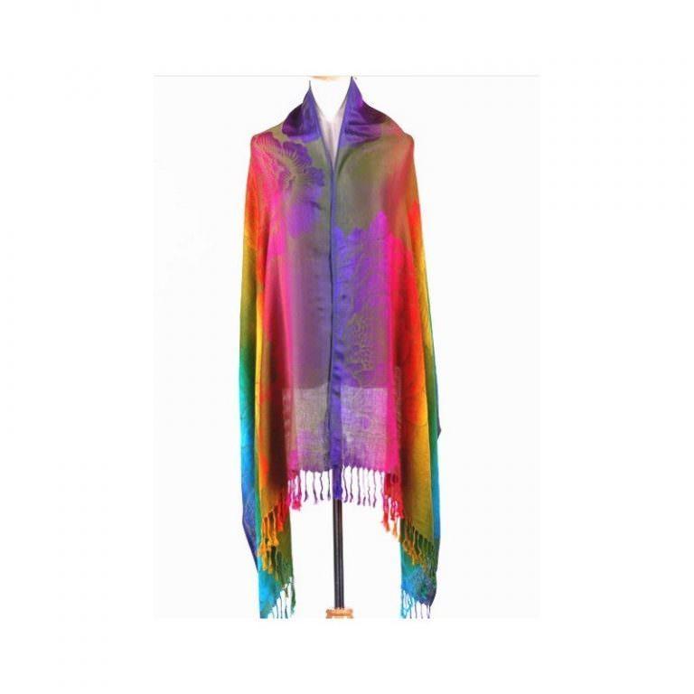12373 - Яркий шарф-палантин Trefille SunDay: 185 х 70 см, 6 расцветок