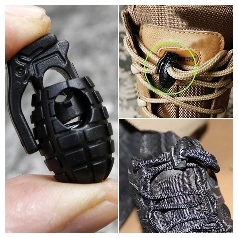 Пряжка-зажим для шнурков Bomb – крепкий пластик, надежная фиксация 193248
