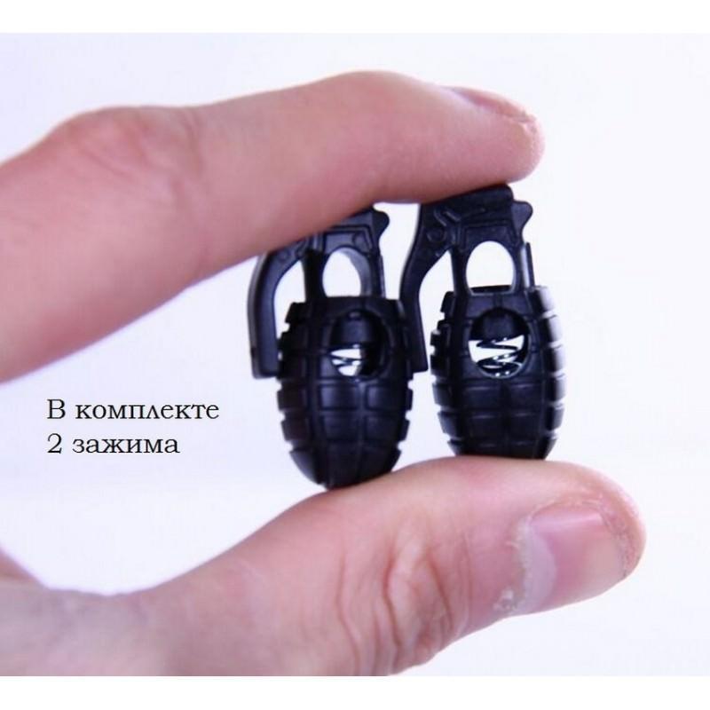 Пряжка-зажим для шнурков Bomb – крепкий пластик, надежная фиксация 193249