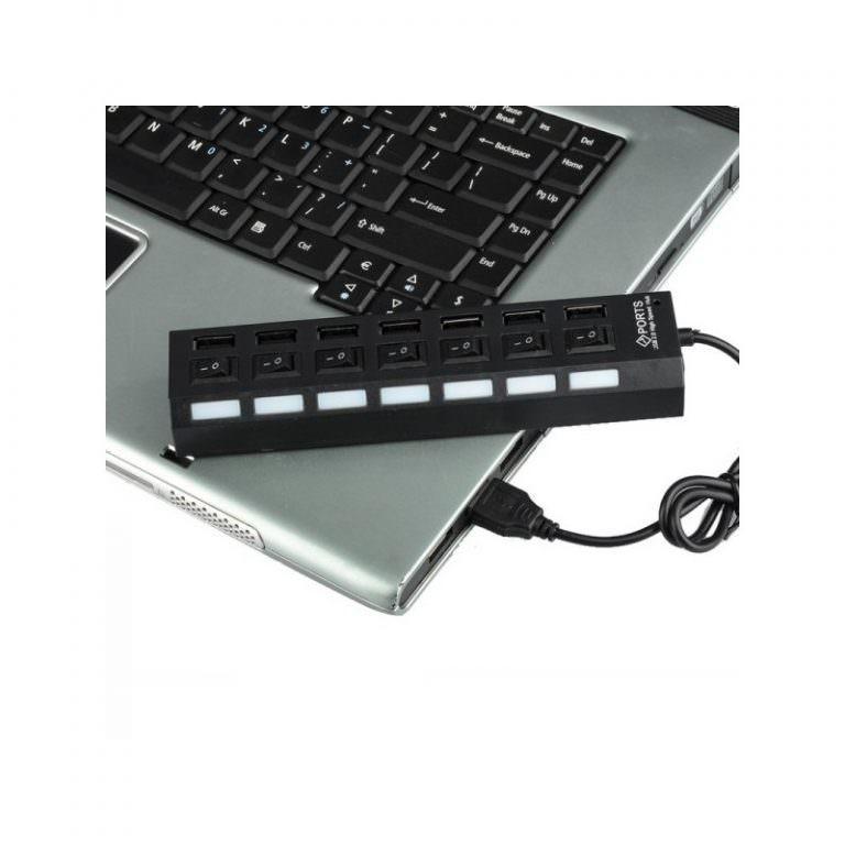 1238 - Высокоскоростной USB-концентратор на 7 портов с выключателями – 5 В, USB 2.0, 480 Мбит/с, Windows-совместимый