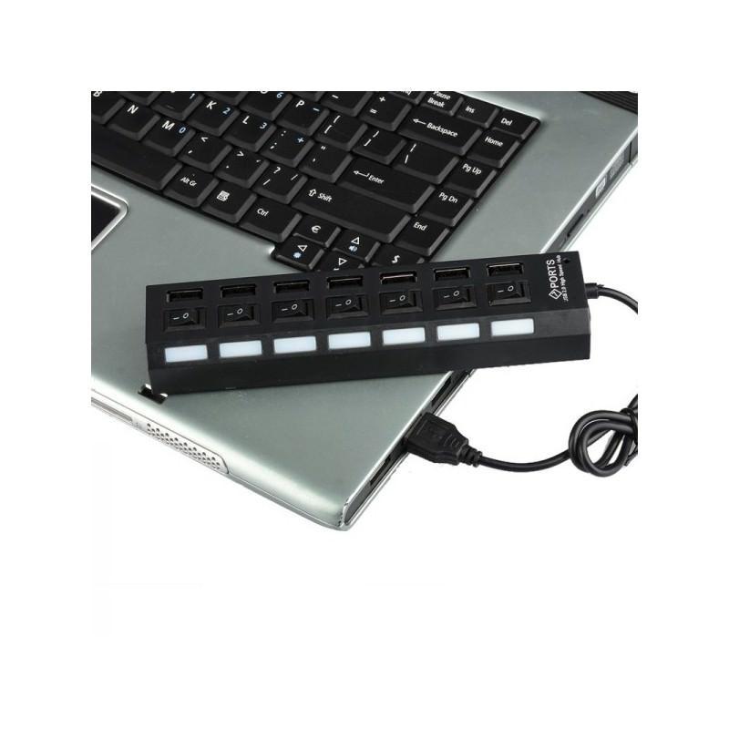 Высокоскоростной USB-концентратор на 7 портов с выключателями – 5 В, USB 2.0, 480 Мбит/с, Windows-совместимый 184254