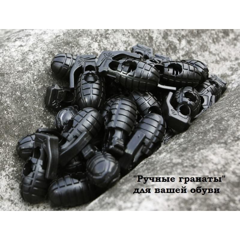 Пряжка-зажим для шнурков Bomb – крепкий пластик, надежная фиксация 193254