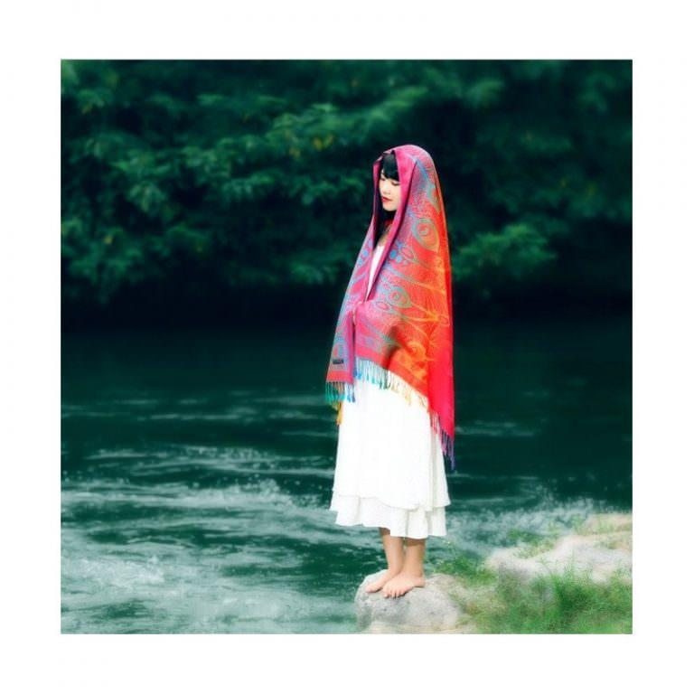 12385 - Яркий шарф-палантин Trefille SunDay: 185 х 70 см, 6 расцветок