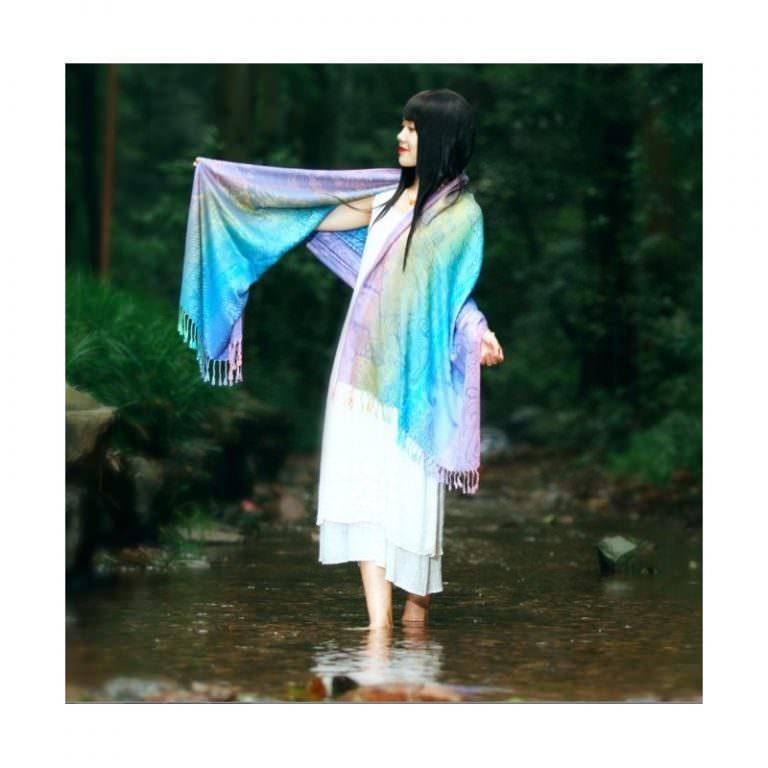 12389 - Яркий шарф-палантин Trefille SunDay: 185 х 70 см, 6 расцветок