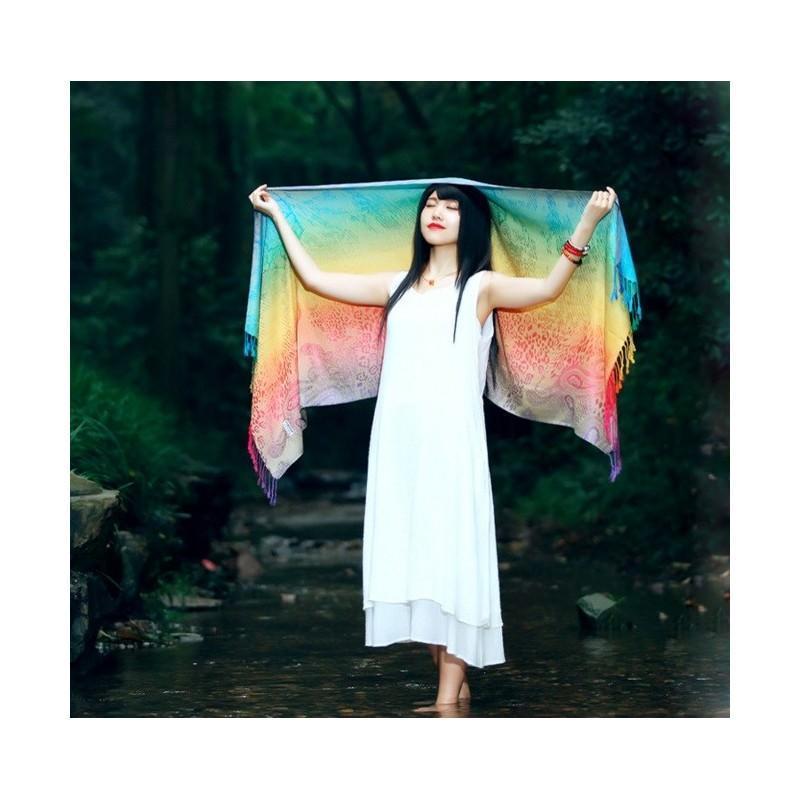 Яркий шарф-палантин Trefille SunDay: 185 х 70 см, 6 расцветок 193227