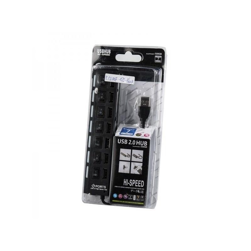Высокоскоростной USB-концентратор на 7 портов с выключателями – 5 В, USB 2.0, 480 Мбит/с, Windows-совместимый 184255
