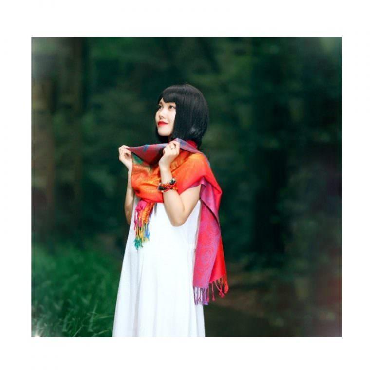 12393 - Яркий шарф-палантин Trefille SunDay: 185 х 70 см, 6 расцветок