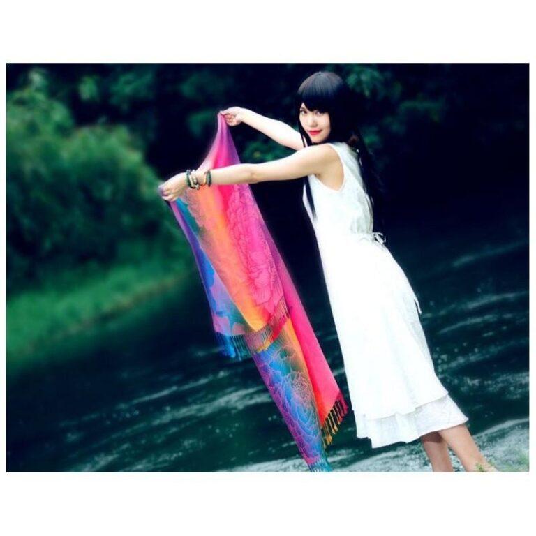 12394 - Яркий шарф-палантин Trefille SunDay: 185 х 70 см, 6 расцветок
