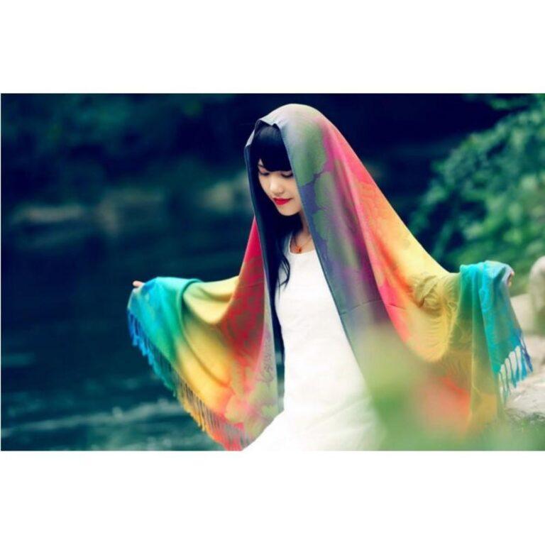 12397 - Яркий шарф-палантин Trefille SunDay: 185 х 70 см, 6 расцветок