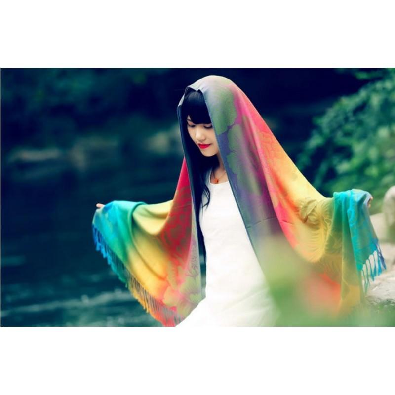Яркий шарф-палантин Trefille SunDay: 185 х 70 см, 6 расцветок 193232