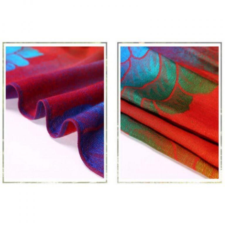 12398 - Яркий шарф-палантин Trefille SunDay: 185 х 70 см, 6 расцветок
