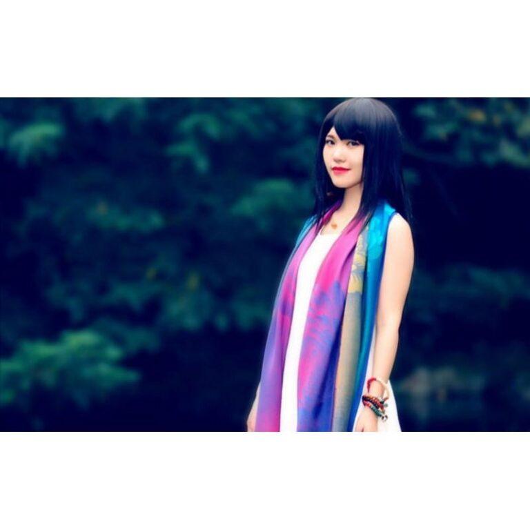12403 - Яркий шарф-палантин Trefille SunDay: 185 х 70 см, 6 расцветок