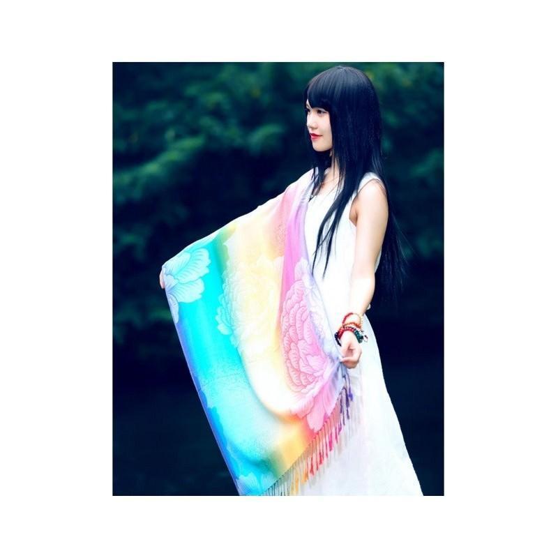 Яркий шарф-палантин Trefille SunDay: 185 х 70 см, 6 расцветок 193238