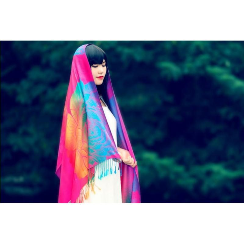 Яркий шарф-палантин Trefille SunDay: 185 х 70 см, 6 расцветок 193243