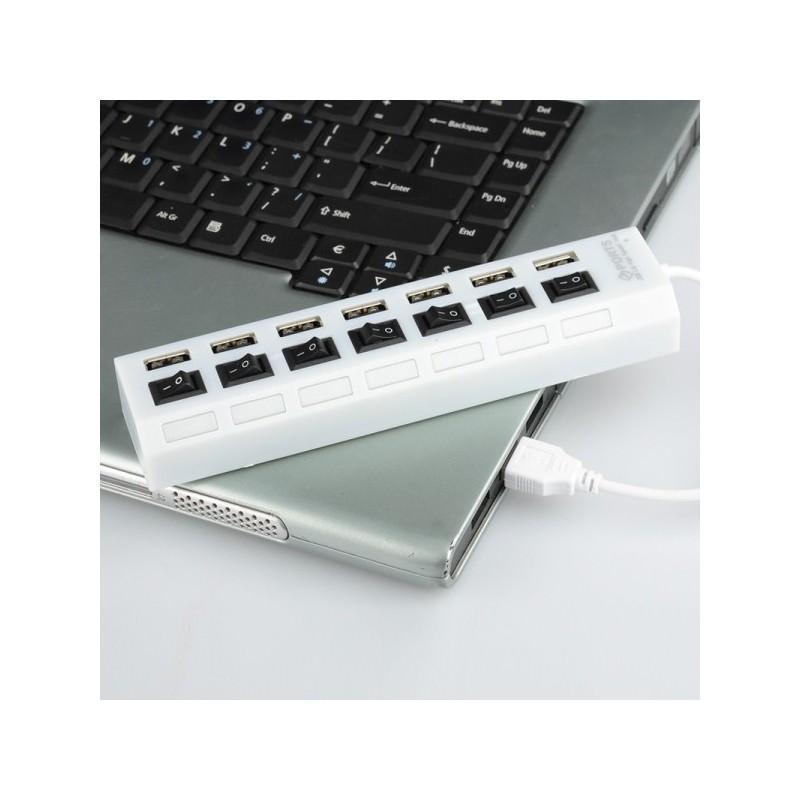 Высокоскоростной USB-концентратор на 7 портов с выключателями – 5 В, USB 2.0, 480 Мбит/с, Windows-совместимый 184257