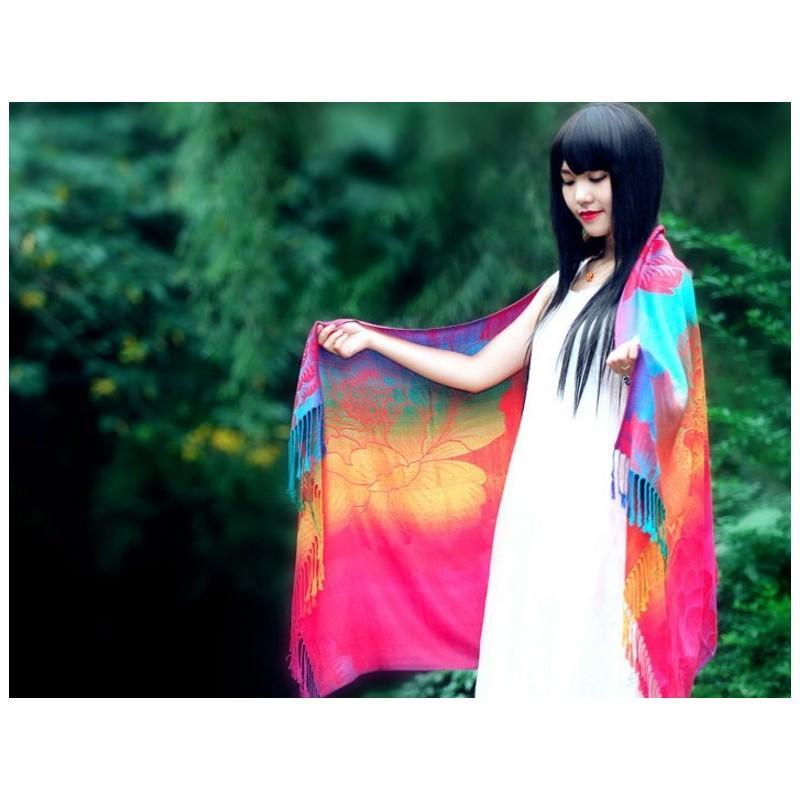 Яркий шарф-палантин Trefille SunDay: 185 х 70 см, 6 расцветок 193244