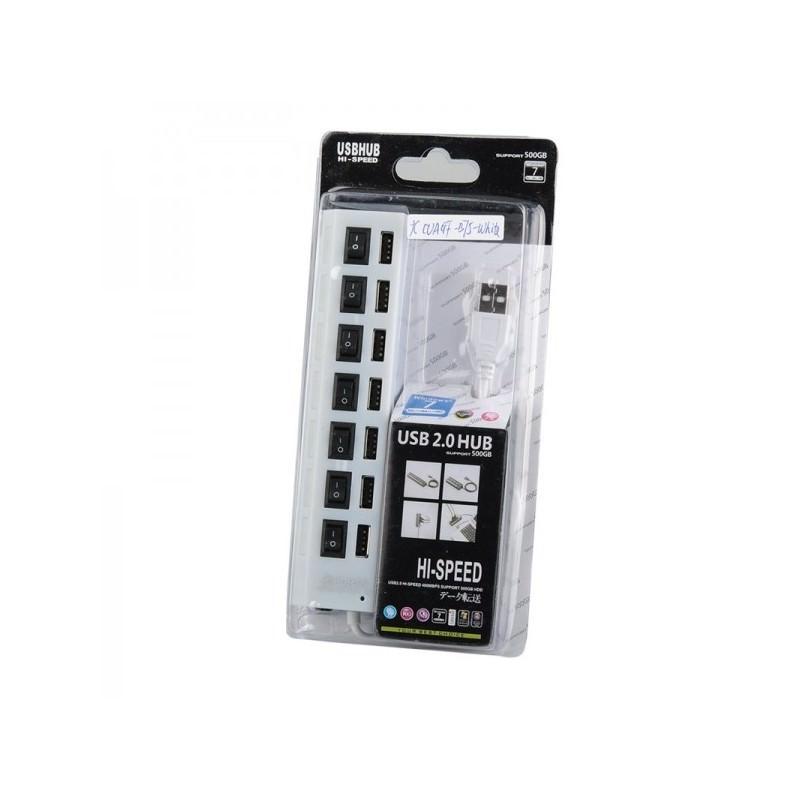 Высокоскоростной USB-концентратор на 7 портов с выключателями – 5 В, USB 2.0, 480 Мбит/с, Windows-совместимый 184258