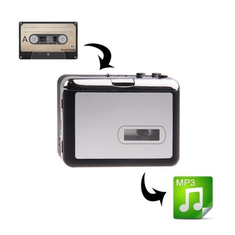 Кассетный плеер-преобразователь в MP3 – автономный с micro-SD, 128 kbps, наушники в комплекте