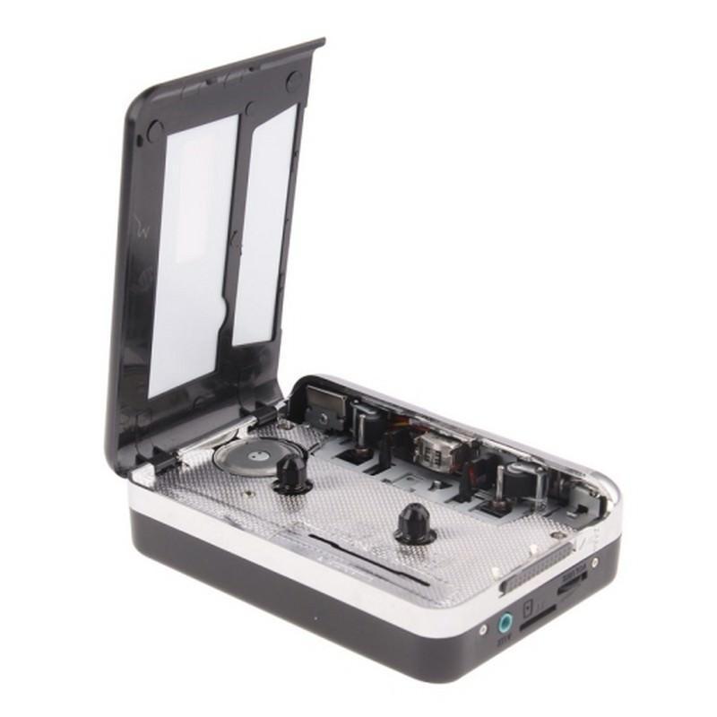 Кассетный плеер-преобразователь в MP3 – автономный с micro-SD, 128 kbps, наушники в комплекте 193268
