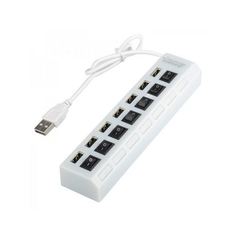 1243 - Высокоскоростной USB-концентратор на 7 портов с выключателями – 5 В, USB 2.0, 480 Мбит/с, Windows-совместимый