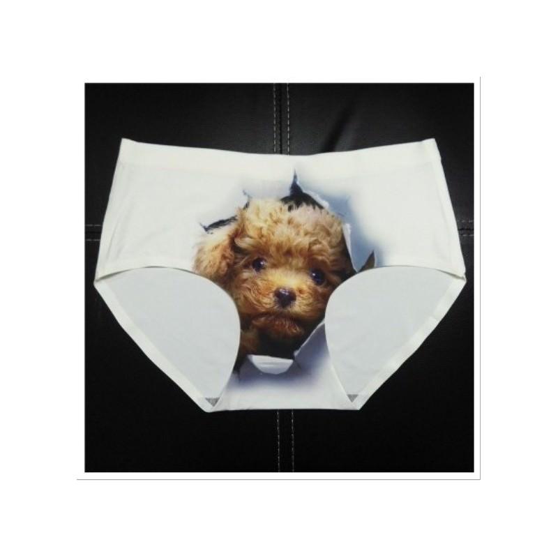 Женские бесшовные трусики Kiska & Co – с 3D-эффектом (принт: собачки) 193365