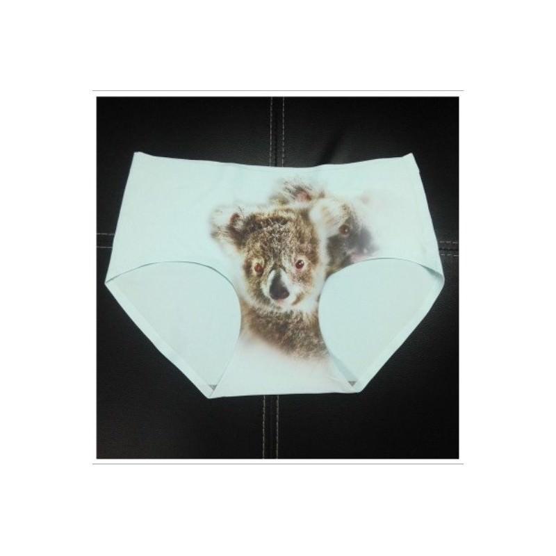12572 - Женские бесшовные трусики Kiska & Co - с 3D-эффектом (принт: Wild)