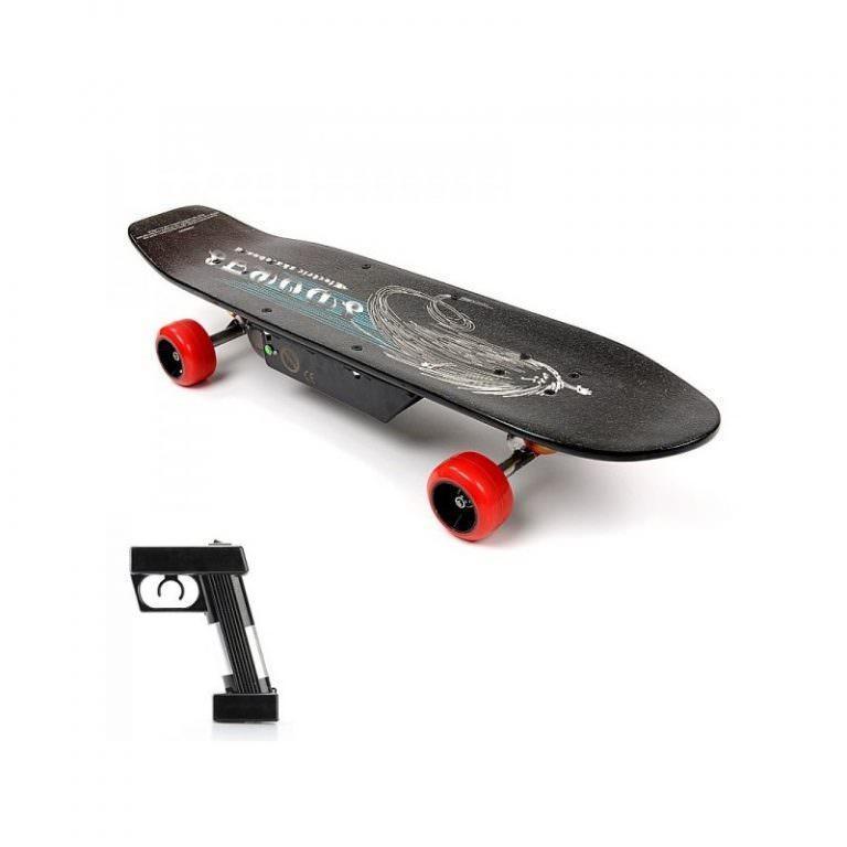 1258 - Электрический скейтборд Easy Go с дистанционным управлением для начинающих и детей от 14 лет – 150 Вт, 10000 мАч