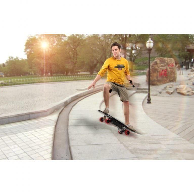 1259 - Электрический скейтборд Easy Go с дистанционным управлением для начинающих и детей от 14 лет – 150 Вт, 10000 мАч