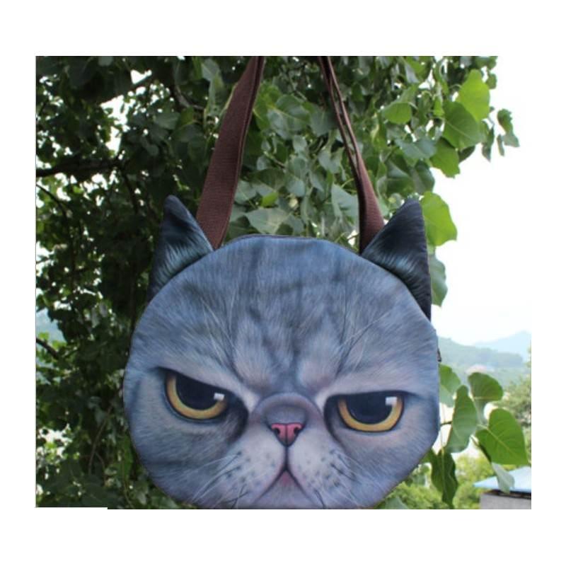 Эпатажные сумки-игрушки MiMi Animals с 3D-принтом Cats 193405
