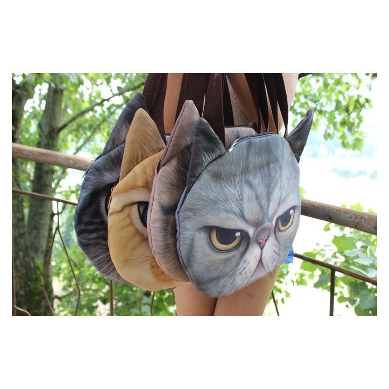 Эпатажные сумки-игрушки MiMi Animals с 3D-принтом Cats 193416