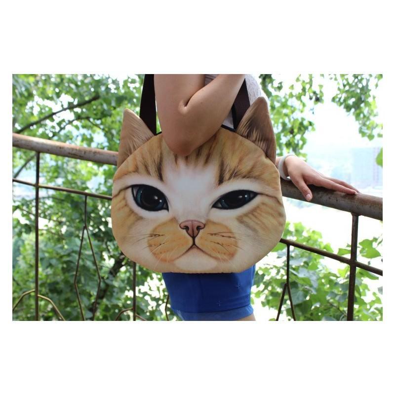 Эпатажные сумки-игрушки MiMi Animals с 3D-принтом Cats 193420
