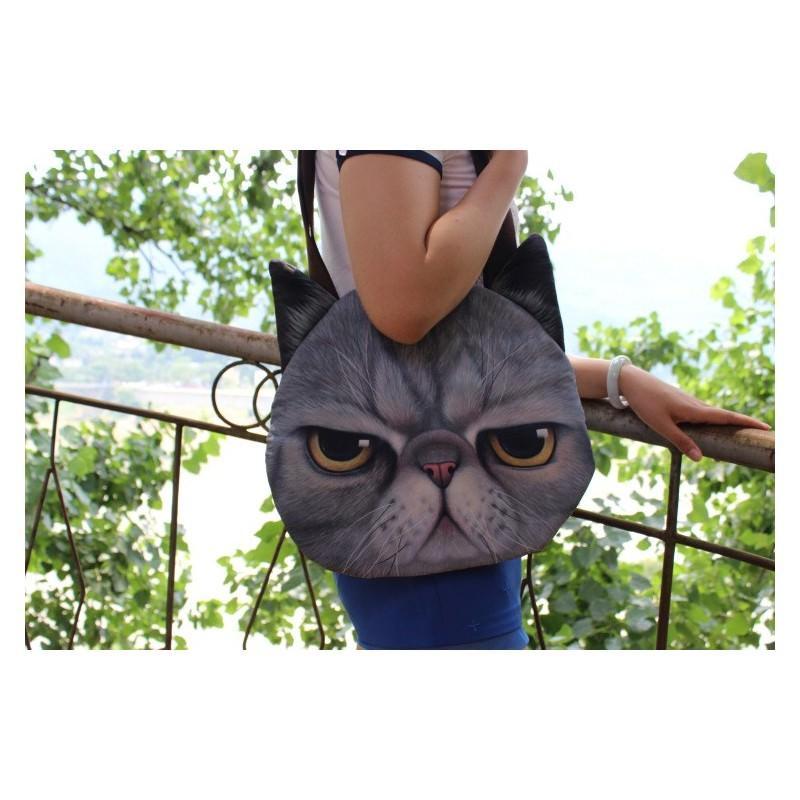 Эпатажные сумки-игрушки MiMi Animals с 3D-принтом Cats 193421