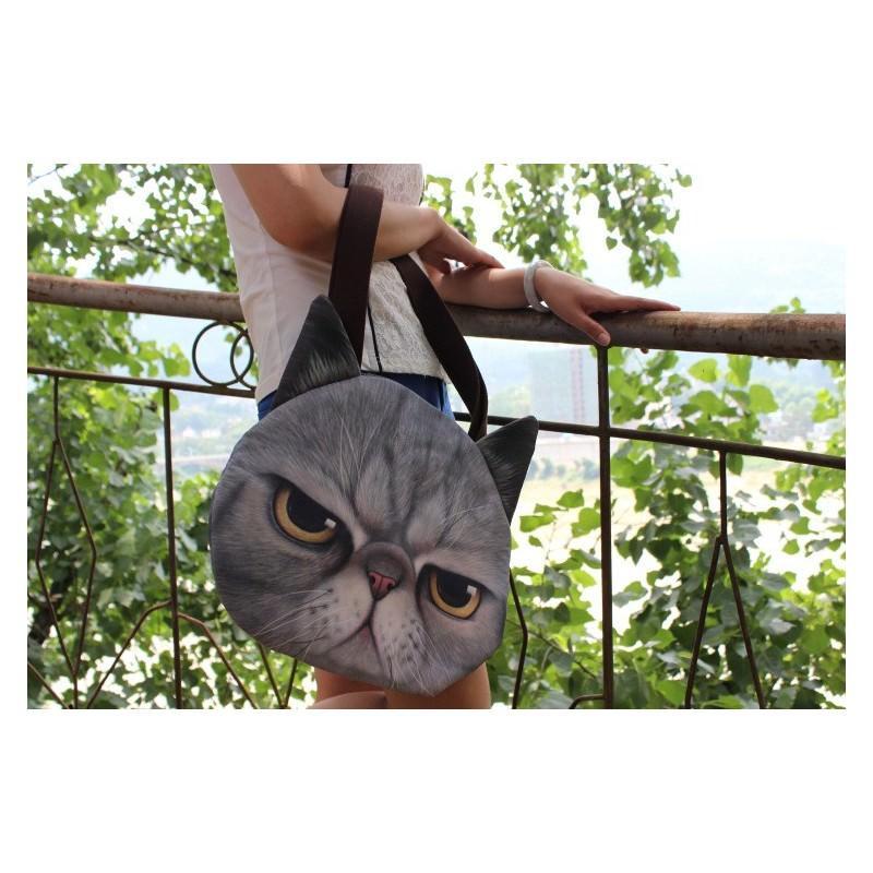 Эпатажные сумки-игрушки MiMi Animals с 3D-принтом Cats 193422