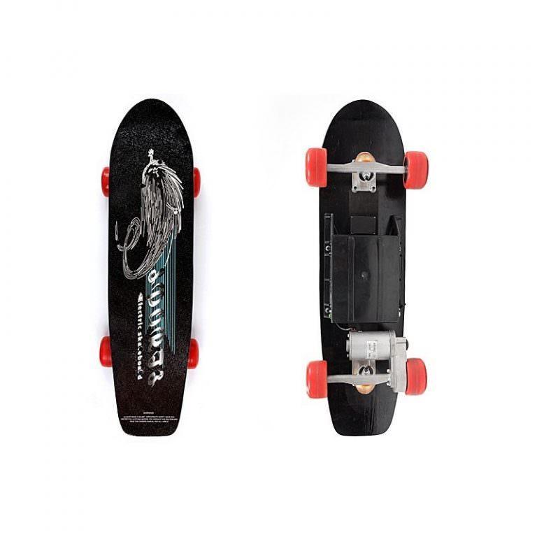 1264 - Электрический скейтборд Easy Go с дистанционным управлением для начинающих и детей от 14 лет – 150 Вт, 10000 мАч